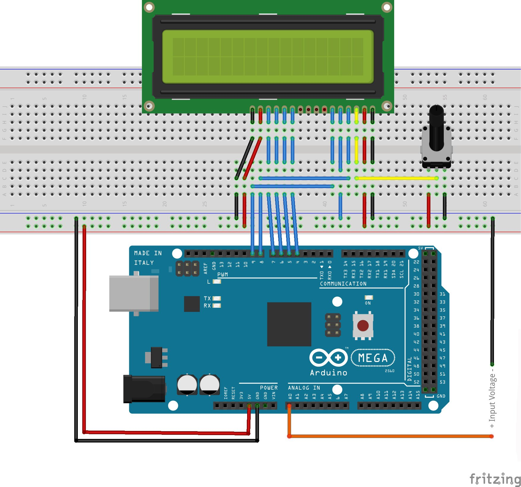 circuit diagram generator make a digital voltmeter using an arduino  make a digital voltmeter using an arduino