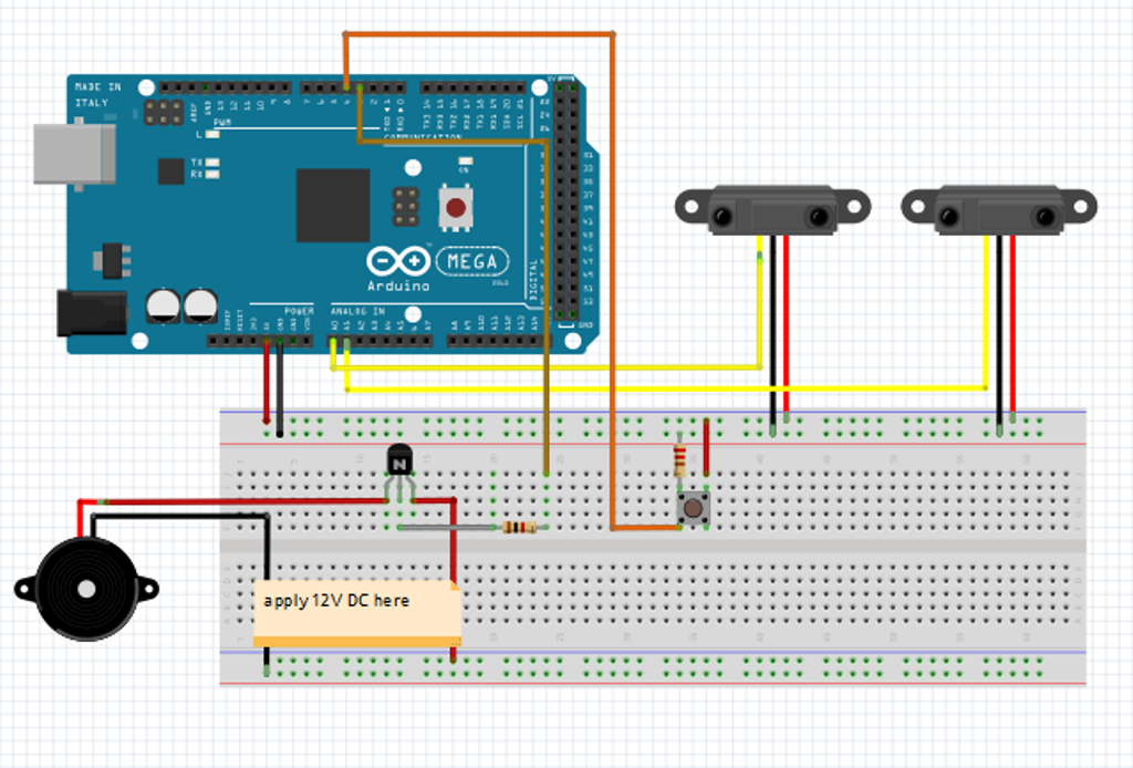 Create A Motion Sensing Alarm With An Arduino And Ir Sensors on transistor door alarm circuit a