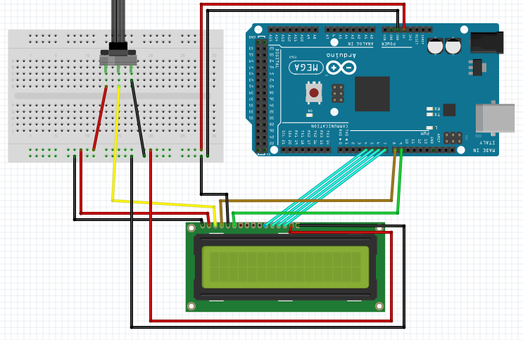 interface an lcd with an arduino rh allaboutcircuits com Arduino LCD 16X2 74HC595 Circuit Arduino LCD