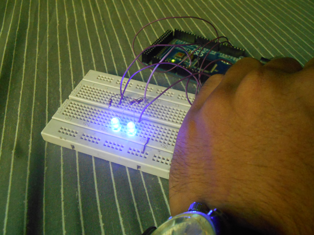 Night light using arduino - Here Is A Photo Of The Setup