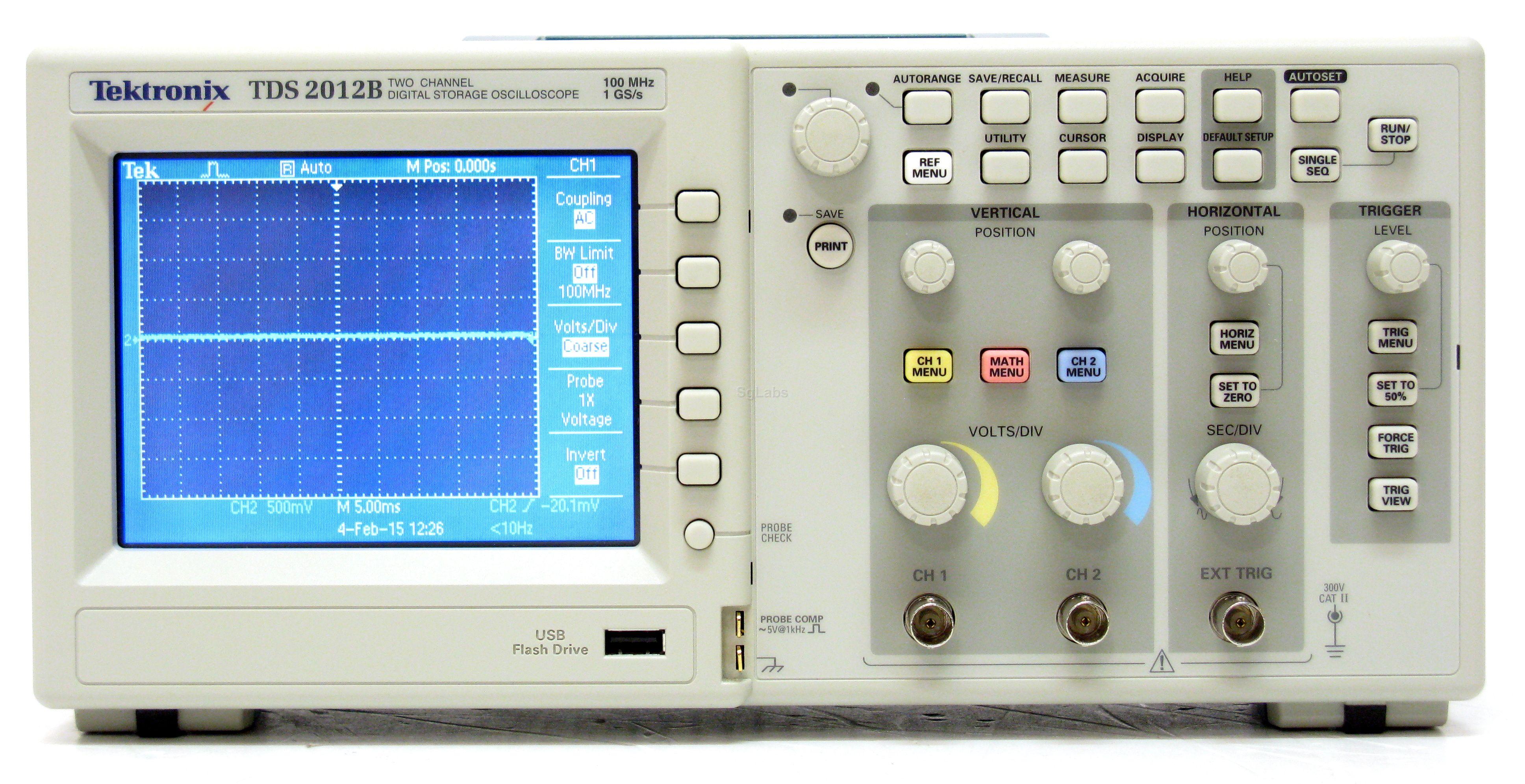 Oscilloscope Image Of B : Tektronix tds b specs manuals buy