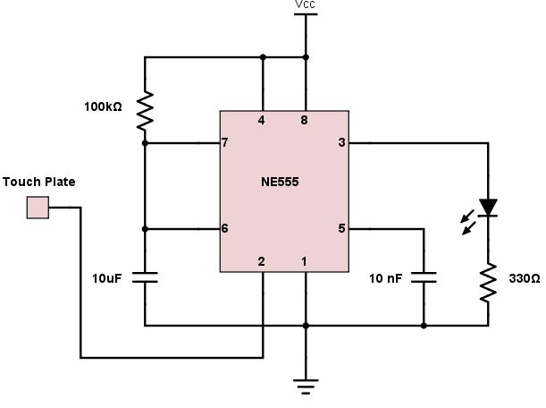 555 Timer Monostable Circuit Calculator