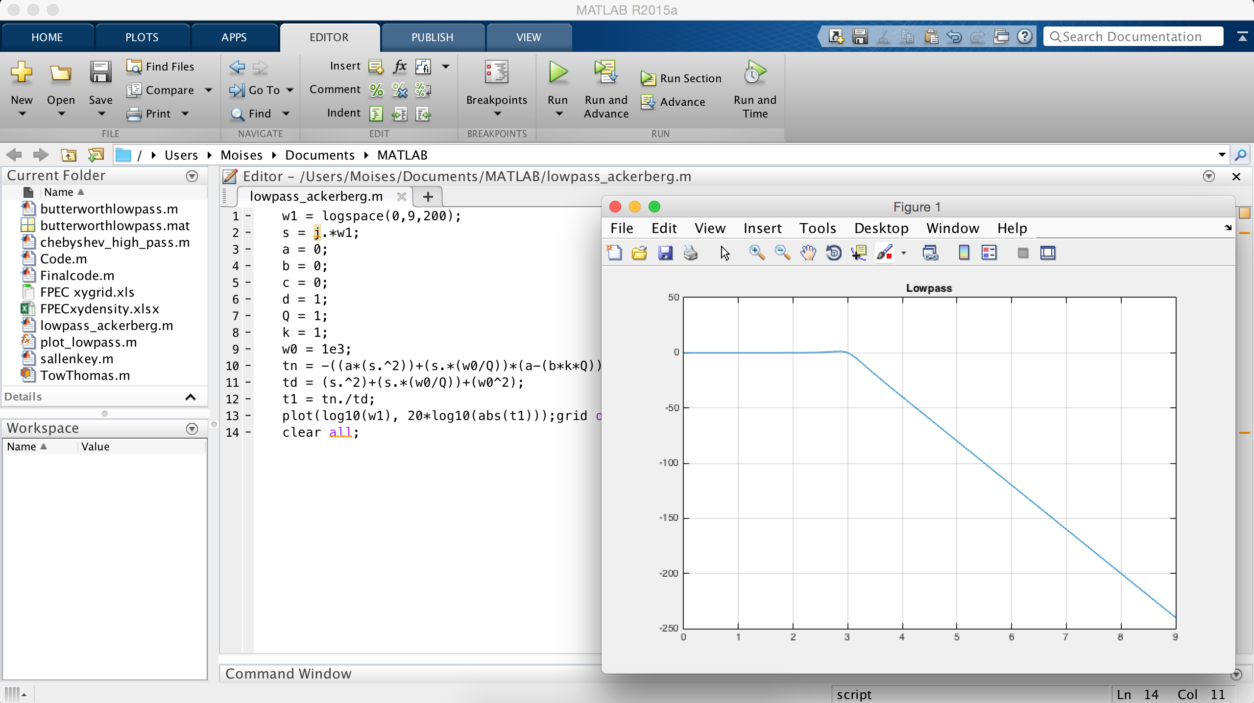 Derive And Plot A Low Pass Transfer Function On Matlab Technical Articles