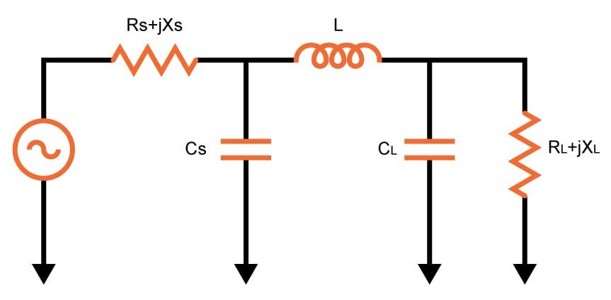 pi match impedance matching calculator electrical engineeringpi match impedance matching calculator
