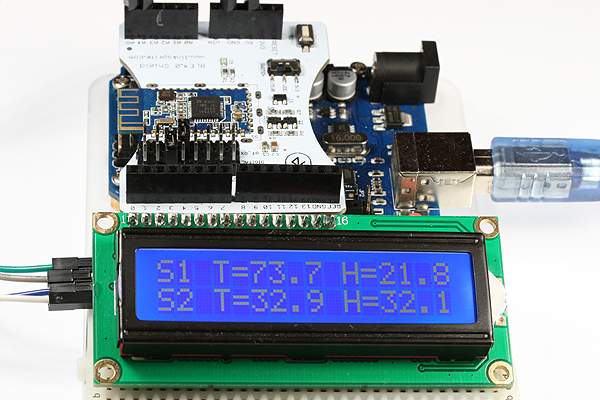 Build an arduino multi node ble humidity and temperature