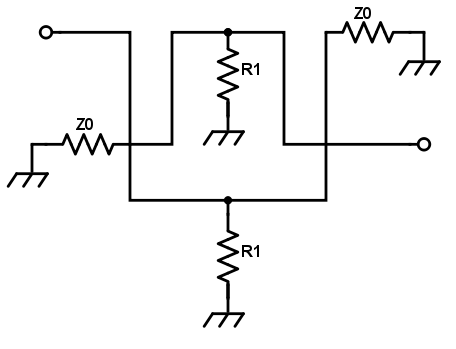 Balanced Attenuator Calculator - Electrical Engineering