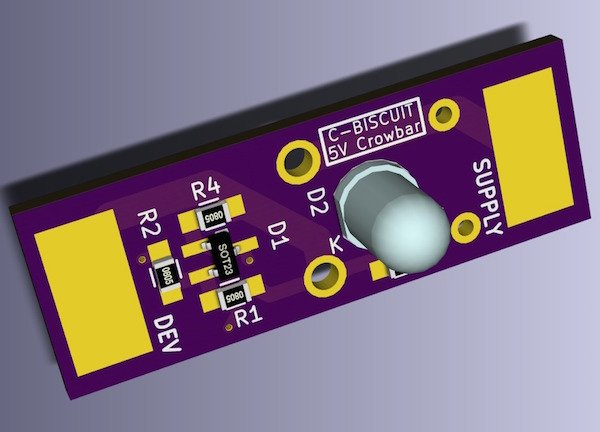 C Biscuit Power Crowbar Protection Circuit For 5v Regulator