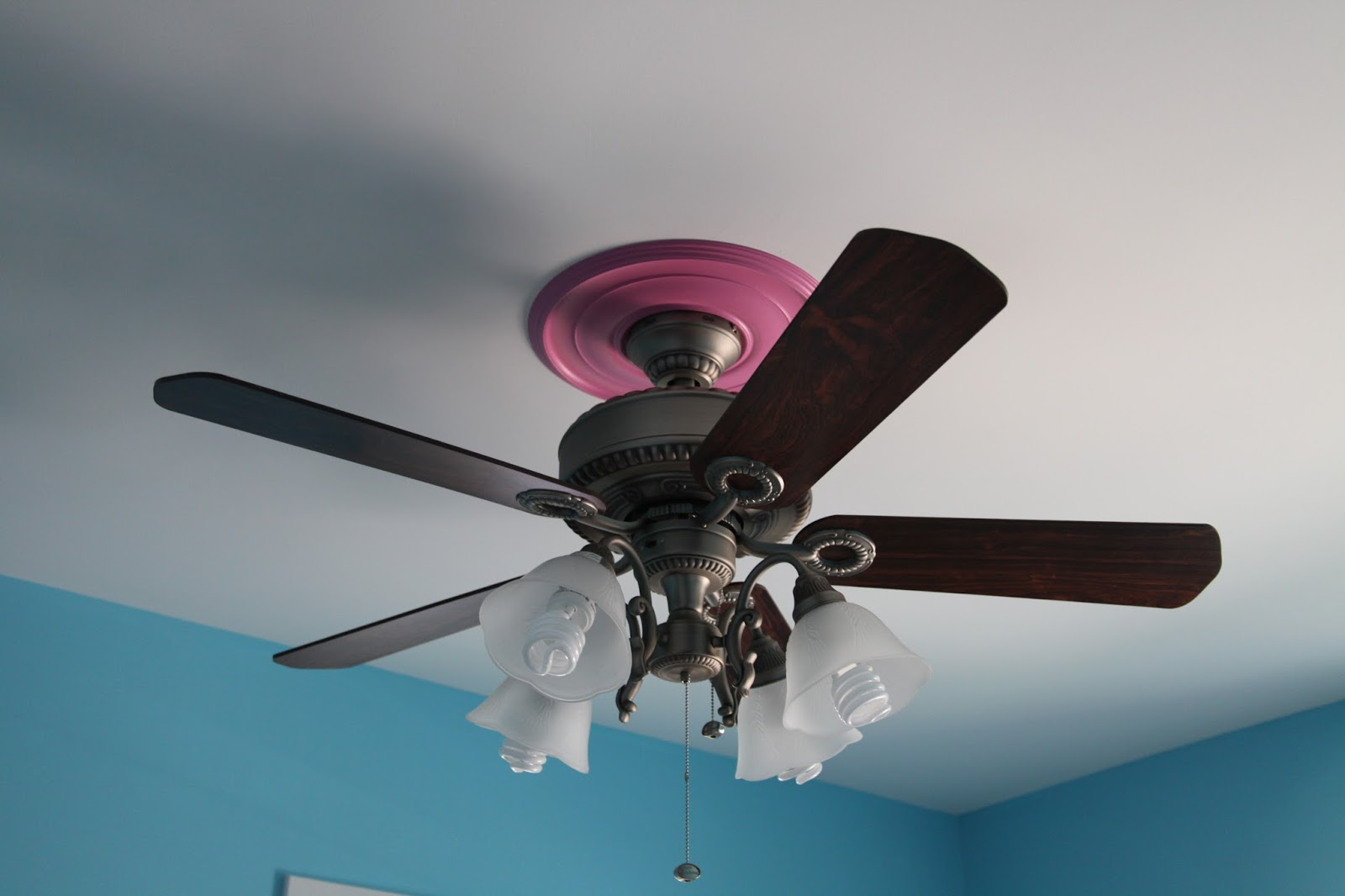 Cute Pink Girls Ceiling Fan Lights European Stylejollyhome